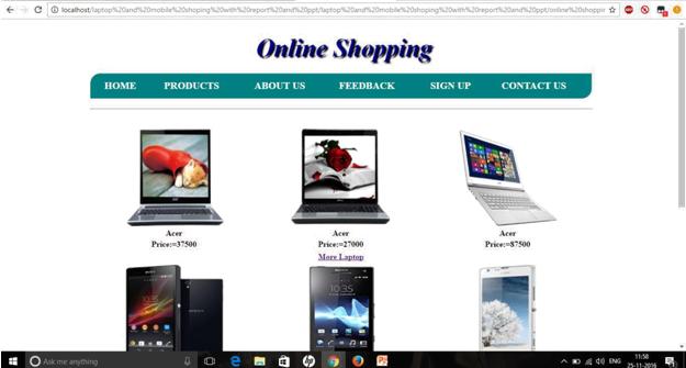 Online shopping program in c language